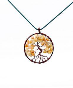 مدال درخت زندگی آونتورین زرد